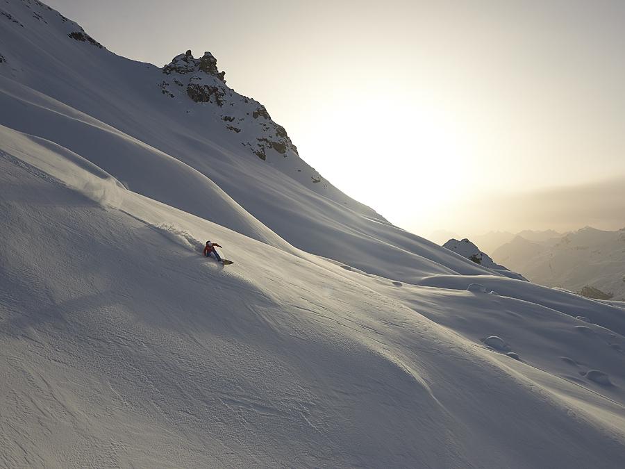Powder surfing im Engadin, Martin Winkler