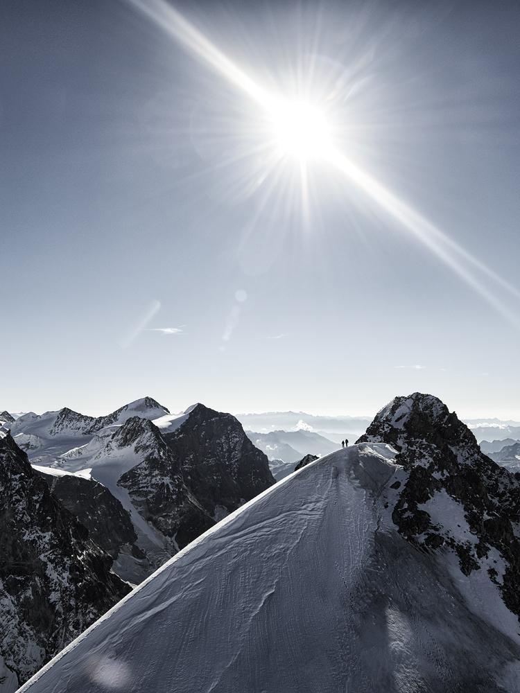 Schneekuppe, Piz Roseg, Schweiz