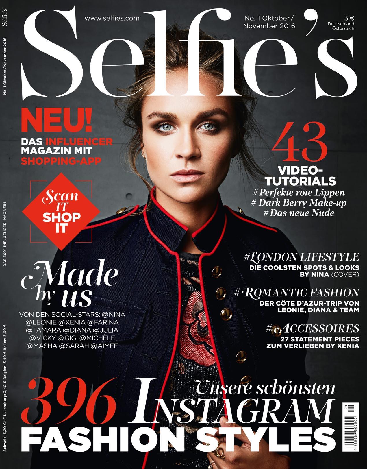 Burberry Druck Selfie's magazine cover