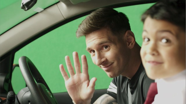 FCB player lio messi on the shoot