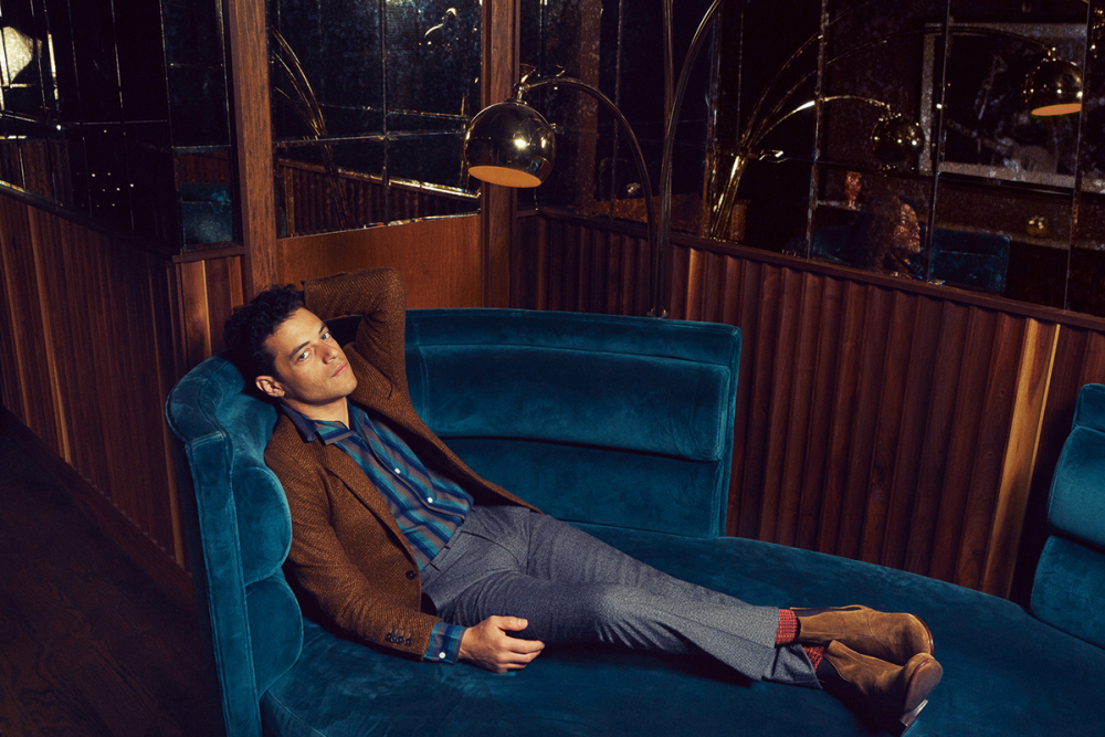 Rami Malek - Photo credit: Emily Assiran for Backstage Magazine; Grooming by Cheri Keating; Shot on location at The VNYL; Retouching by Stephanie Price