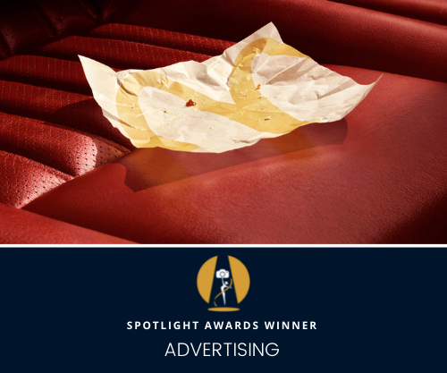 A mouth-watering image captured the Spotlight Awards Advertising category...