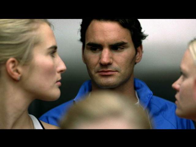 Filming with Roger Federer in Nike's 'Men vs. Women' gallery