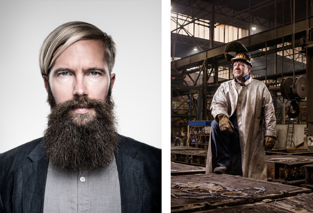 Client left:  Markus Bader - right: Steel Worker - Annual Report about the usage of industrial gas gallery