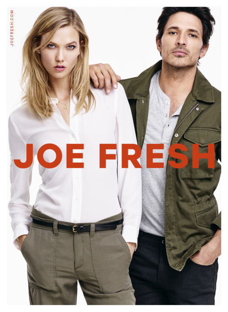 Joe Fresh Holiday 2015 by Johan Sandberg for DAY INT Stockholm with Karlie Kloss and Andrés Velencoso