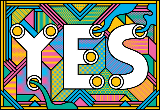 YES - Illustration by Supermundane gallery