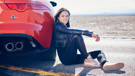 Michelle Rodriguez piloting the new Jaguar F-Type SVR gallery