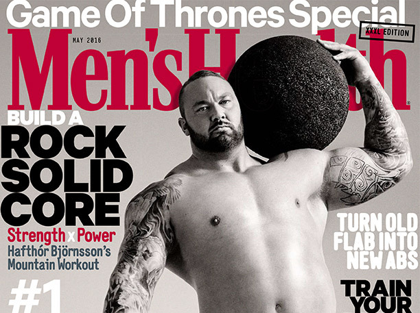 "Photo shoot for Men's Health with Hafthor ""The Mountain"" Juliusson gallery"