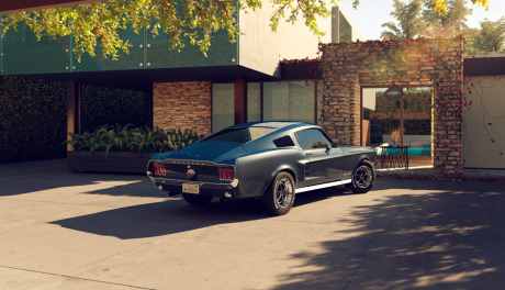 1967 Ford Mustang - Homage to an image by Uli Heckmann and RecomFarmhouse gallery