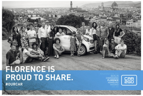 "Client: Car2Go Global ''Proud to share"" campaign gallery"