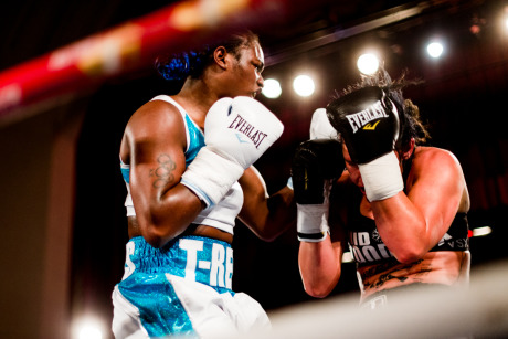Olympic gold medal boxer, Claressa Shields, fights for the WBC Silver Belt at the Masonic Temple in Detroit, MI. gallery