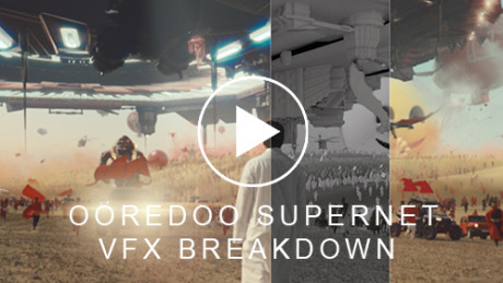 Ooredoo Supernet VFX Breakdown gallery
