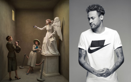 Photo: Left - Eugenio Recuenco for Huawei - Right: Gartzen for Nike gallery