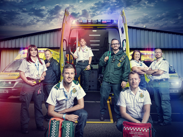 'Inside The Ambulance' photographed for UKTV gallery