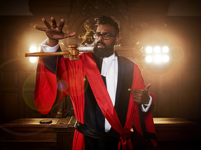 'Judge Romesh'. Photographed for UKTV gallery