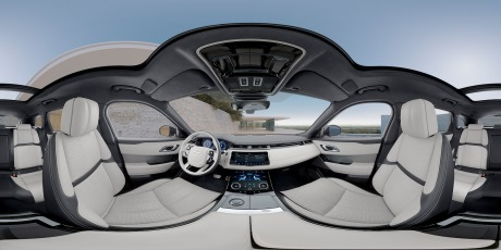 Still taken from interactive car interior 360: Range Rover Velar gallery