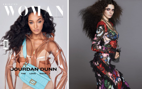 Left: Jourdan Dunn for Emirates Woman - Right: Kendall Jenner for Vogue gallery