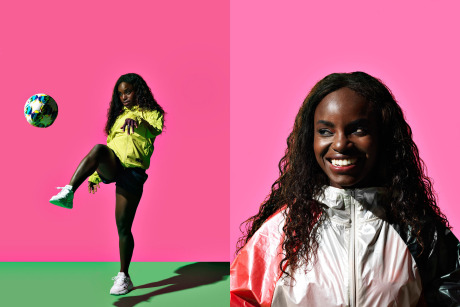 Photographer: PEROU for The Guardian Weekend feat. Eniola Aluko gallery