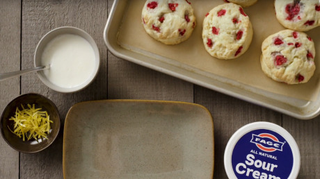 Fage - Raspberry Sour Cream Scones gallery
