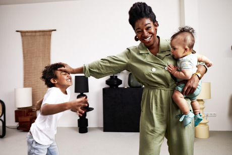 Singer Leona Philippo and her two sons for Kek Mama Magazine gallery