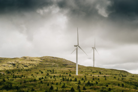 Wind turbines on the Island of Stord in western Norway gallery