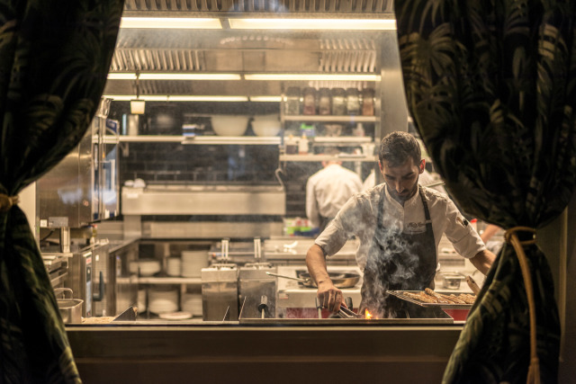 Antonis Sirmopoulos - Chef at Restaurant Razzia, Zurich for Food and Travel Magazine gallery