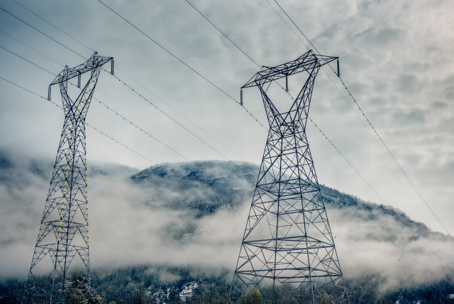 High voltage pylon for Adobe Premium Stock gallery