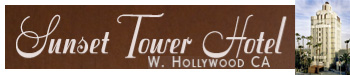 website sunset tower hotel