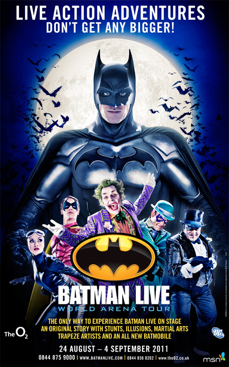Client: Warner Bros, AKA UK, Batman Live gallery