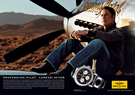 John Travolta for Breitling gallery
