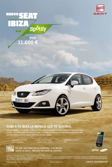 Client: Seat Ibiza Spotify gallery