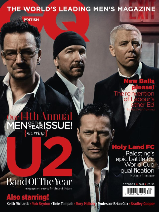 Studio Shot U2 for GQ gallery