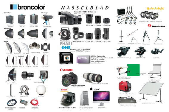 photography studio equipment list pdf