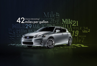 Lexus CT - CGI Car, Background, and Font gallery