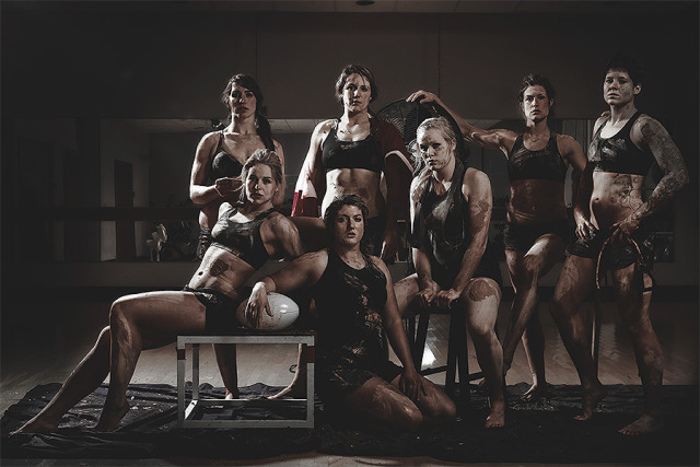 Group portrait for  Canadian Women´s Rugby Team gallery