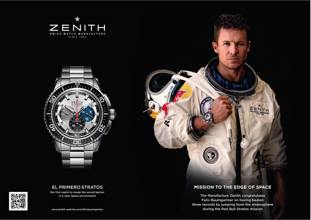 Photographer: Morgan Norman for ZENITH worldwide with Felix Baumgartner gallery