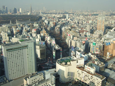 The view from the Cerulean Tower Hotel in Tokyo, overlooking Shibuya-ku gallery