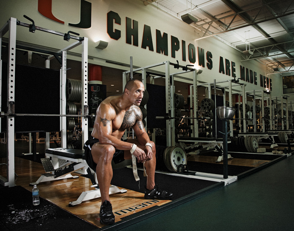 ... Muscles Before And After , The Rock Muscles 2012 Dwayne Johnson Before