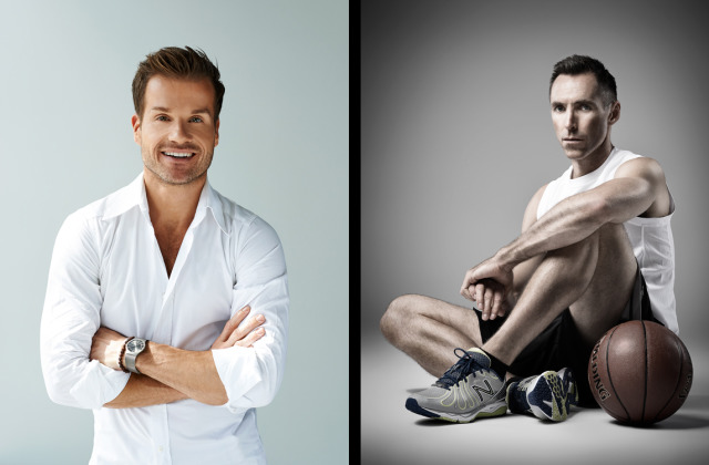 Subject: Left: Louis Van Amstel (Dancer/Choreographer) | Right: Steve Nash NBA Allstar gallery