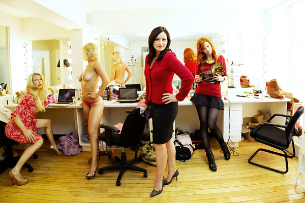 Naked News Senior Anchor Victoria Sinclair Foreground