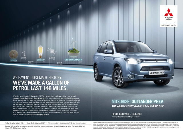 Campaign: Mitsubishi Outlander PHEV ´We Haven't Just Made History´Campaign gallery