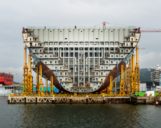Wired Magazine - Construction of the largest ship in the world gallery