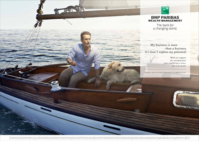 Client: BNP Paribas's 'Wealth Management' campaign gallery