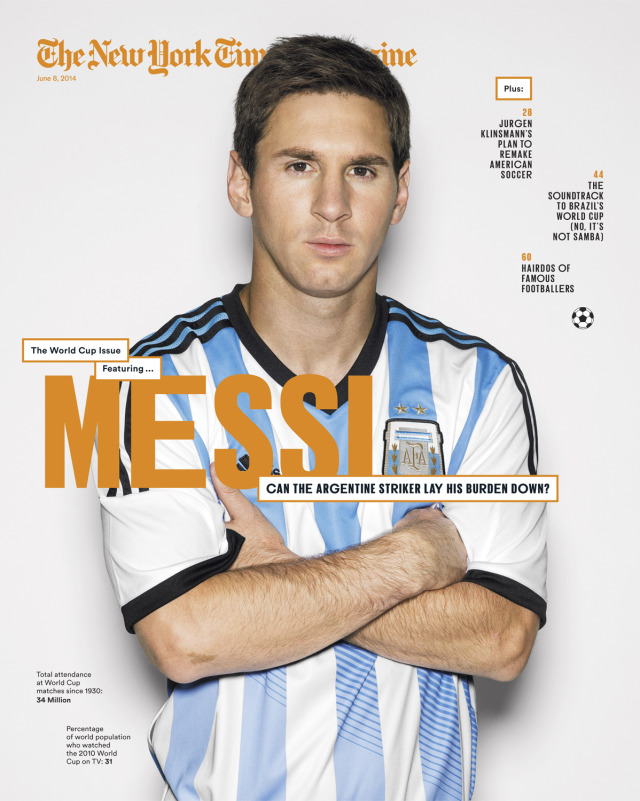 Messi for The New York Times gallery