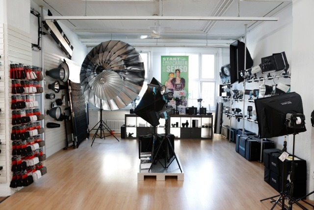 Showroom Equipment sale + rent for Photo & Film gallery