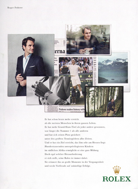 KT Produktion for Rolex with Tennis champion Roger Federer gallery