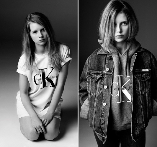 Photographer: Michael Avedon for Calvin Klein Jeans with Lottie Moss gallery