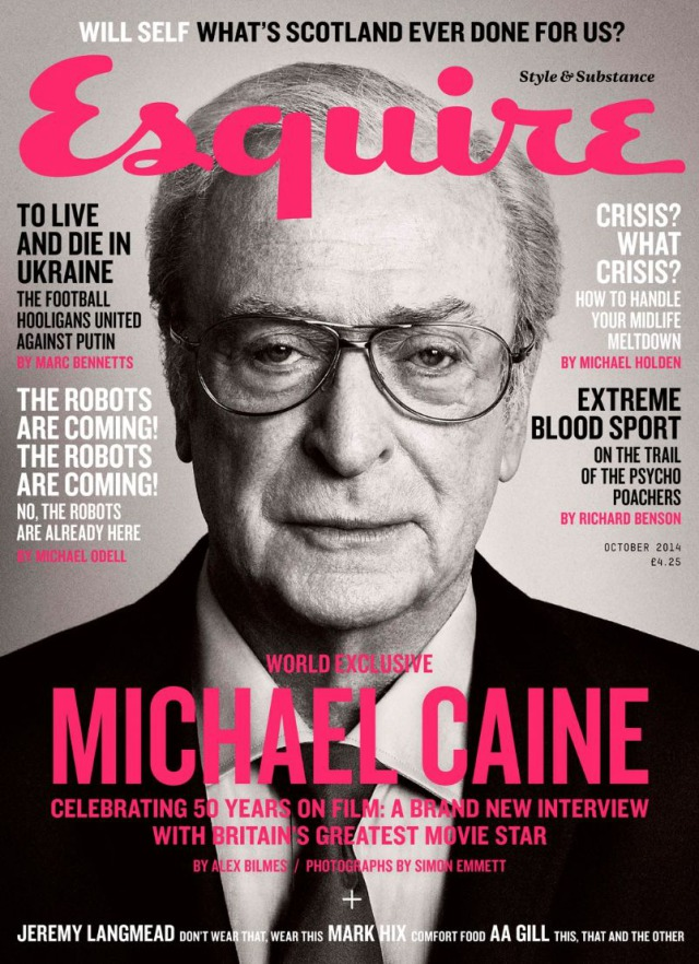 Photo: Michael Caine for Esquire by Simon Emmett gallery
